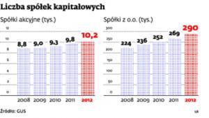 Liczba spółek kapitałowych