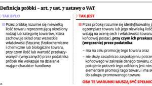 Definicja próbki – art. 7 ust.7 ustawy o VAT