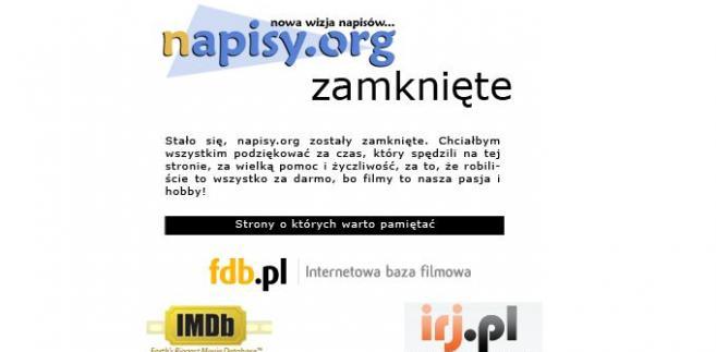 Ta wygląda teraz strona napisy.org