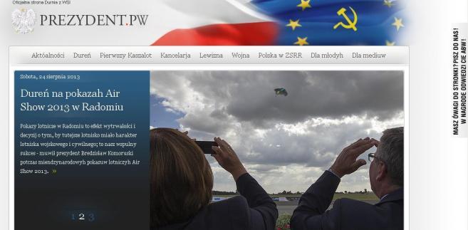 Screen strony prezydent.pw