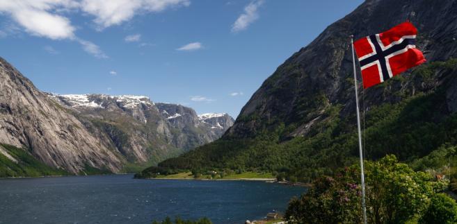Norwegia - Flaga - Krajobraz