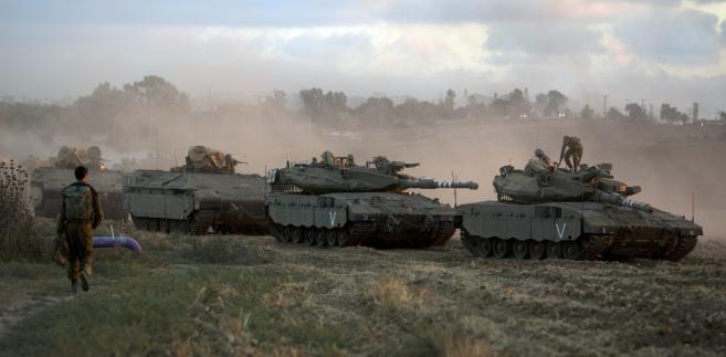 Izrael 17 lipca rozpoczął lądową ofensywę w Strefie Gazy EPA/JIM HOLLANDER/PAP