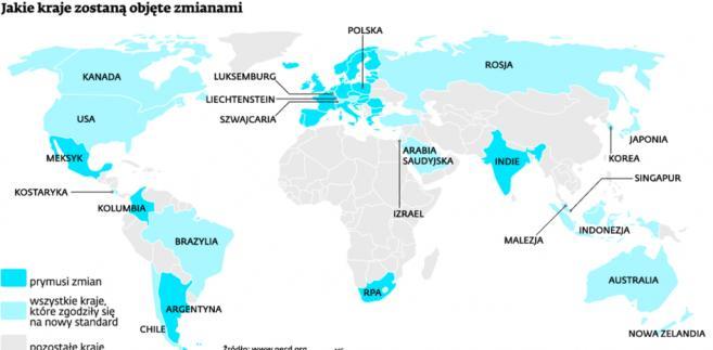 Jakie kraje zostaną objęte zmianami