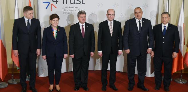 Beata Szydło podczas szczytu Grupy Wyszehradzkiej