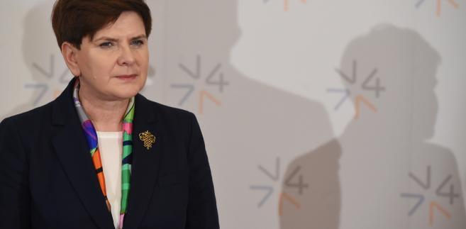 Premier Szydło podczas szczytu Grupy Wyszehradzkiej