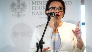 """Minister edukacji Anna Zalewska, podczas briefingu prasowego po konferencji podsumowującej Ogólnopolską Debatę o Edukacji """"Uczeń. Rodzic. Nauczyciel - Dobra Zmiana"""""""