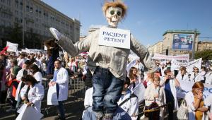Protest pracowników służby zdrowia