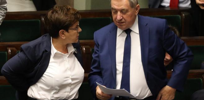 Premier Beata Szydlo i minister Henryk Kowalczyk