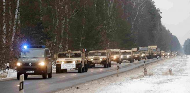 Amerykański konwój wojskowy FELIPE TRUEBA PAP EPA