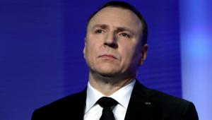 Prezes TVP Jacek Kurski podczas konferencji prasowej, PAP - Tomasz Gzell