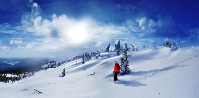 Drahobrat, narty, zima, Ukraina