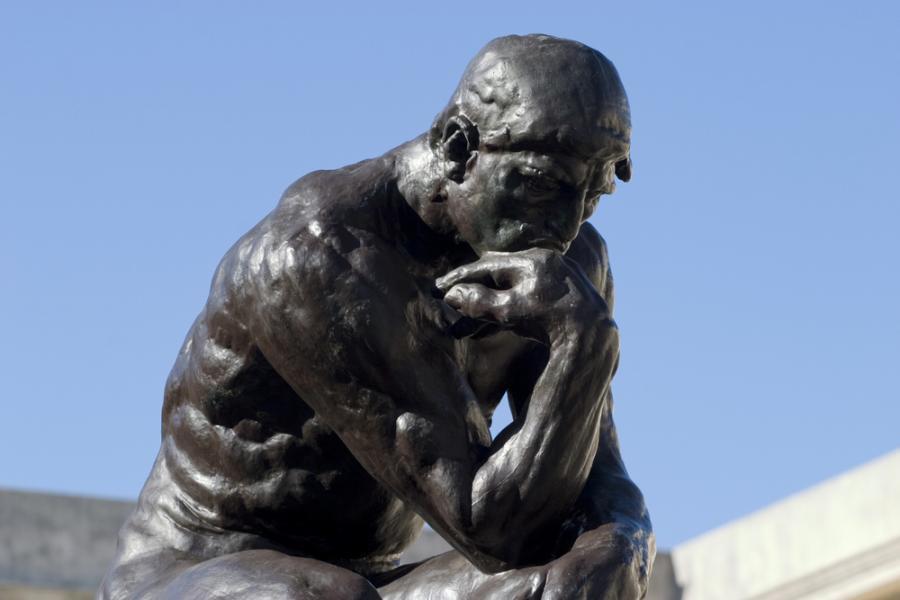 """Auguste Rodin """"Myśliciel"""""""