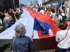 Warszawa: Manifestacja poparcia dla protestujących w Sejmie