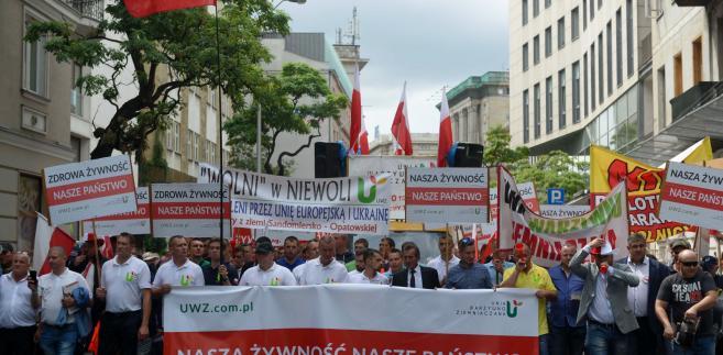 Protestujący chcą podniesienia nakładów na rolnictwo
