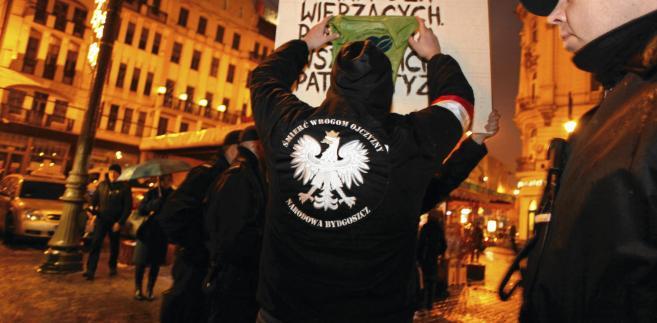 Jeden z marszy organizacji prawicowych
