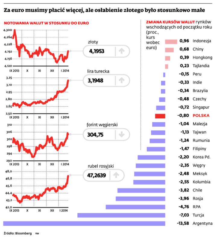 Za euro musimy płacić więcej, ale osłabienie złotego było stosunkowo małe