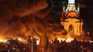 Protesty na Ukrainie. Fot. EPA/IGOR KOVALENKO/PAP/EPA