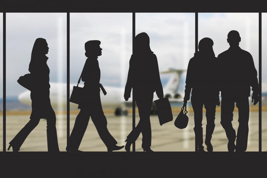 lotnisko ludzie