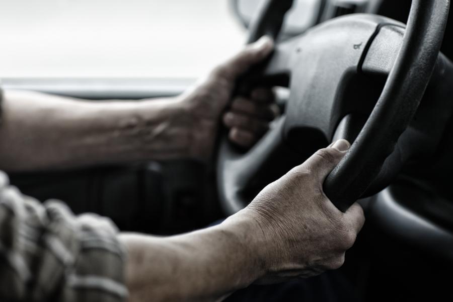 kierowca, ciężarówka, samochód