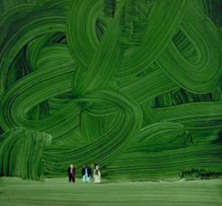 """Obraz Wilhelma Sasnala """"Las"""", 2002 r."""