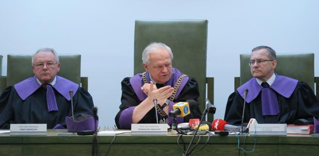 Józef Szewczyk, Stanisław Zabłocki i Jerzy Skorupka podczas rozprawy przed Sądem Najwyższym w Warszawie