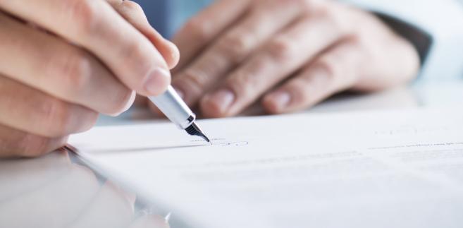 umowa, prawo, podpis