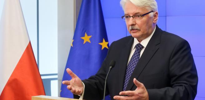 Minister spraw zagranicznych Polski Witold Waszczykowski, podczas konferencji prasowej po spotkaniu szefów dyplomacji państw UE dot. referendum w Wielkiej Brytanii