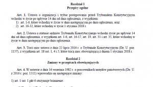 Projekt PiS o Trybunale Konstytucyjnym