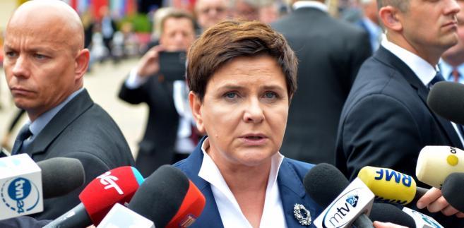 Premier Beata Szydło rozmawia z dziennikarzami w drugim dniu XXVII Forum Ekonomicznego w Krynicy-Zdroju