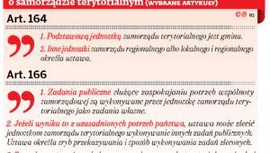 Co obecna Konstytucja RP mówi o samorządzie terytorialnym (wybrane artykuły)