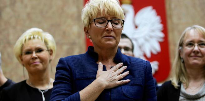 - Po likwidacji KRS i Sądu Najwyższego, które gwarantowały sędziom bezpieczeństwo ustrojowe, będziemy narażeni na różnego rodzaju ataki i niebezpieczeństwa - ostrzega prezes Beata Morawiec