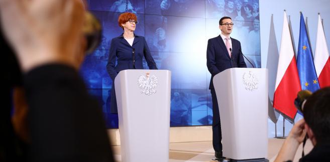 Elżbieta Rafalska i Mateusz Morawiecki