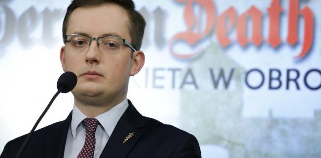 Prezes Ruchu Narodowego, poseł Robert Winnicki