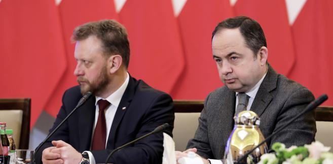 Łukasz Szumowski i Konrad Szymański