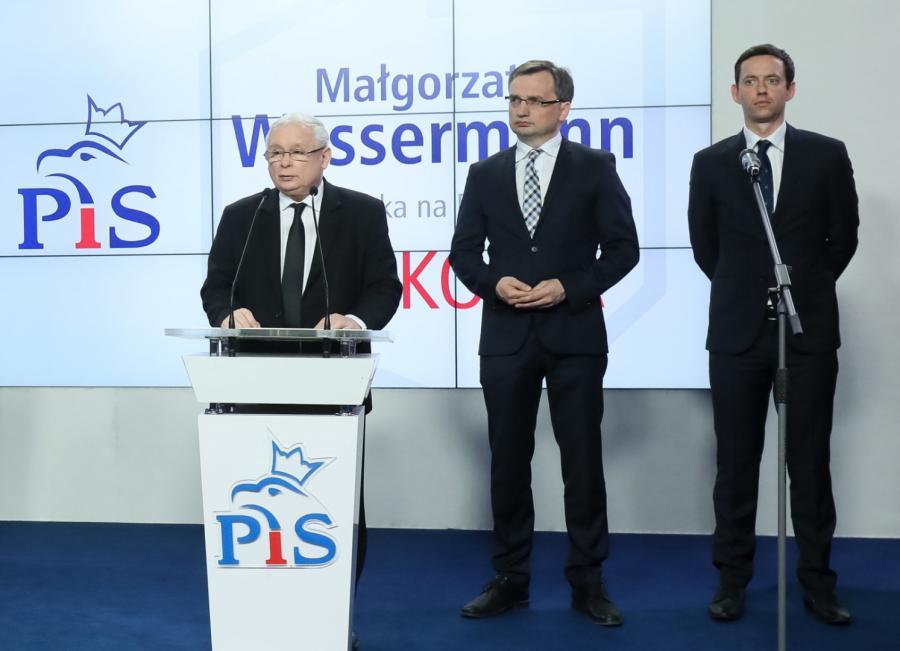 Kaczyński na konferencji
