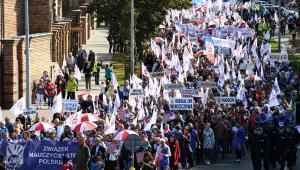 Ogólnopolska manifestacja Związku Nauczycielstwa Polskiego w Warszawie.