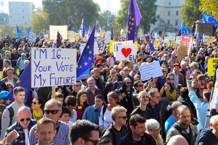 Marsz w Londynie przeciw brexitowi.