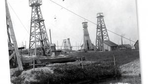 """Kopalnia nafty """"Minerwa"""" w Harklowej"""