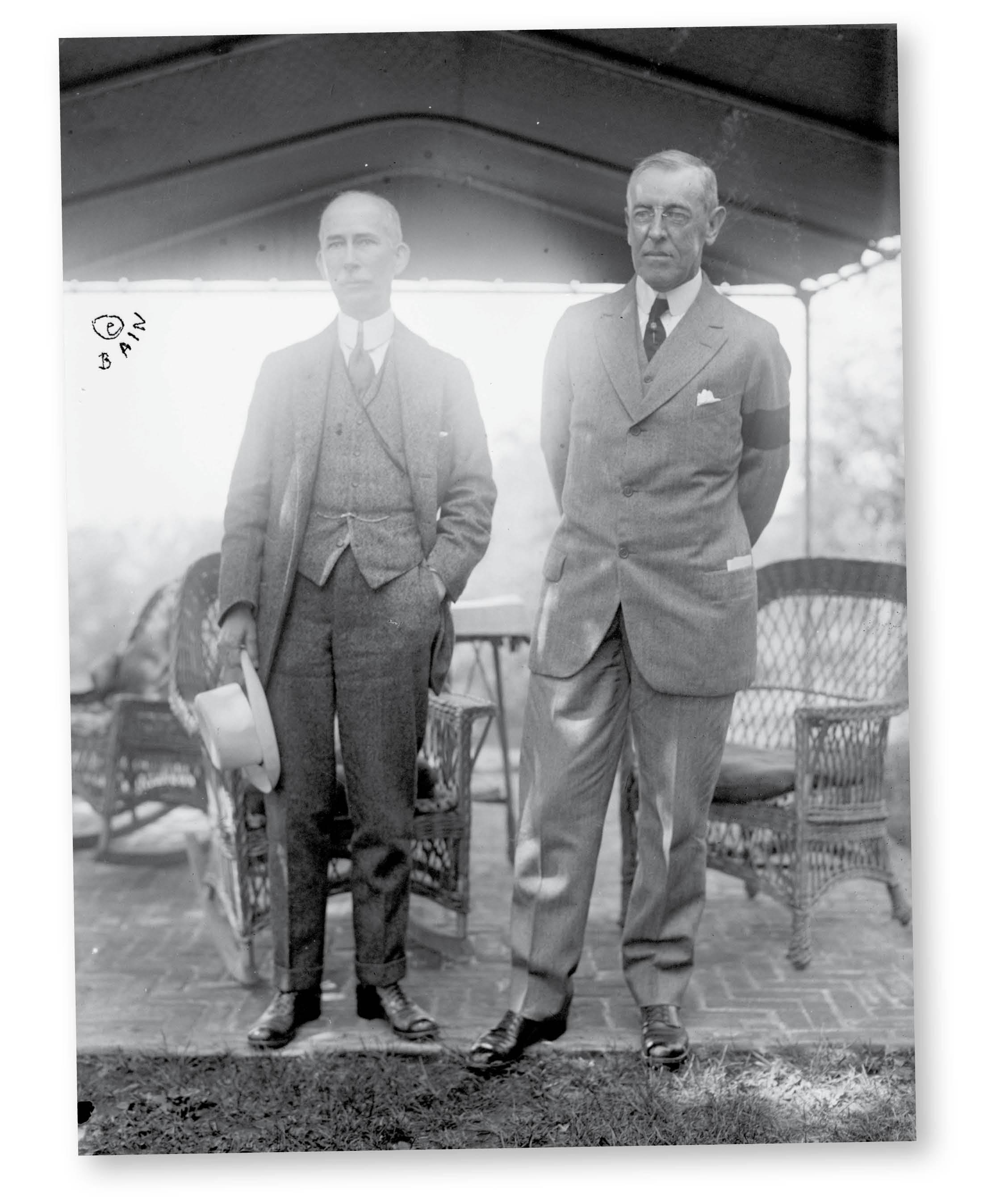Prezydent USA Woodrow Wilson i jego doradca Edward Mandell House (z lewej)