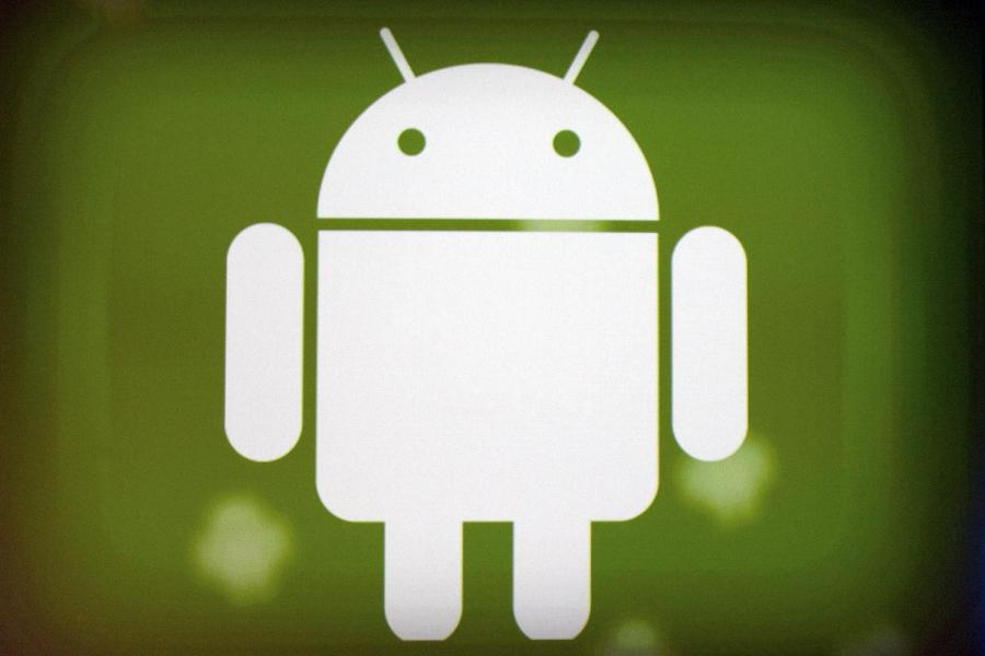 Logo Google Android. Fot. David Paul Morris/Bloomberg