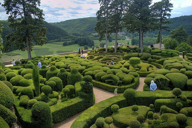 Ogrody w Marqueyssac. Francja fot.flickr/edem56