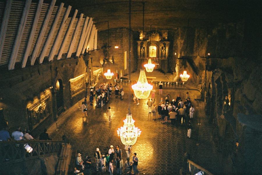 Kopalnia soli w Wielicze, jedna z najstarszych kopalni soli kamiennej na świecie. Warto dodać, że był to również jeden z najdłużej czynnych zakładów przemysłowych na świecie. Fot.flickr/Nigel's Europe