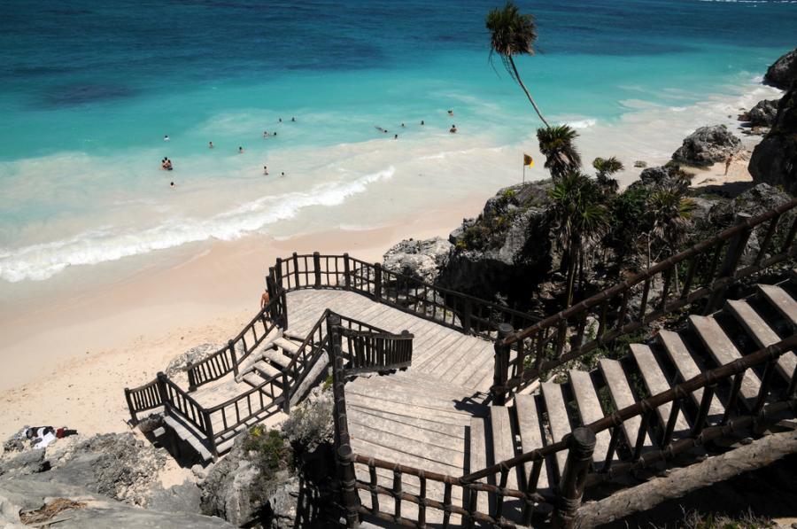 Plaża Tulum, Meksyk. Fot.flickr/vetlesk